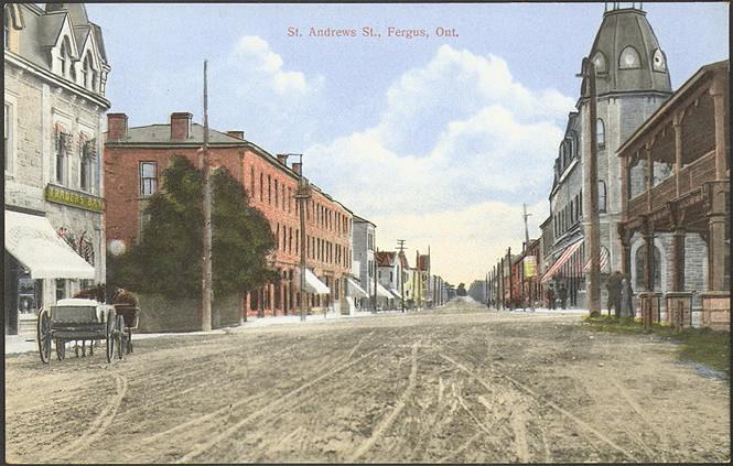 St. Andrew's St.  Fergus  Ont.  Canada, 1910